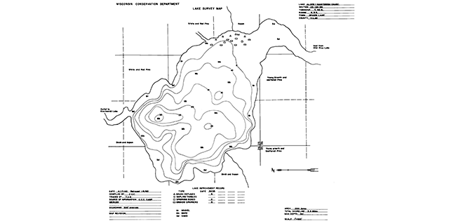 Alder Lake contour map