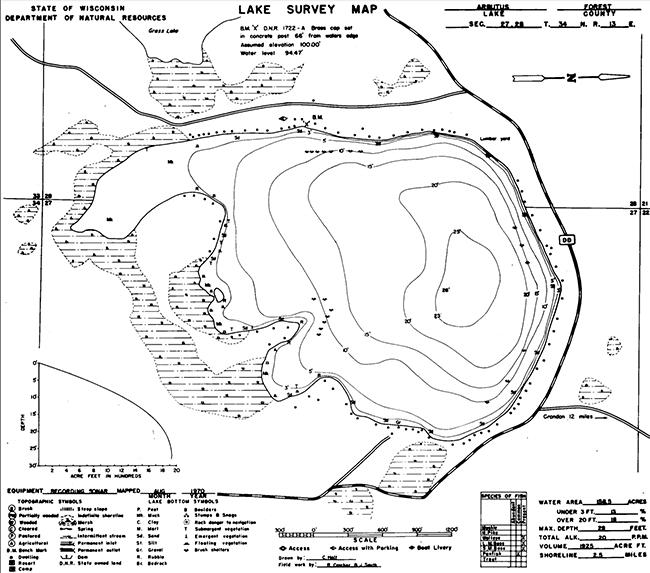 Arbutus Lake (C) contour map
