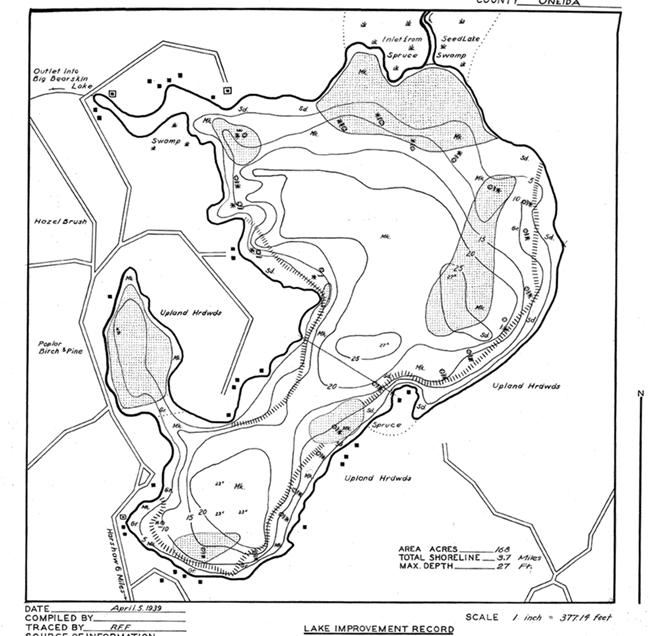 Birch Lake (M) contour map