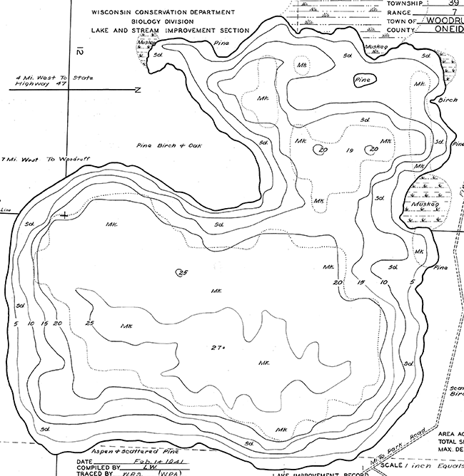 Buffalo Lake contour map