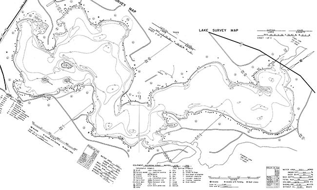 Catfish Lake contour map
