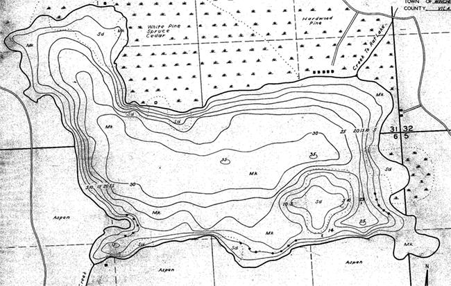 Circle Lily Lake contour map