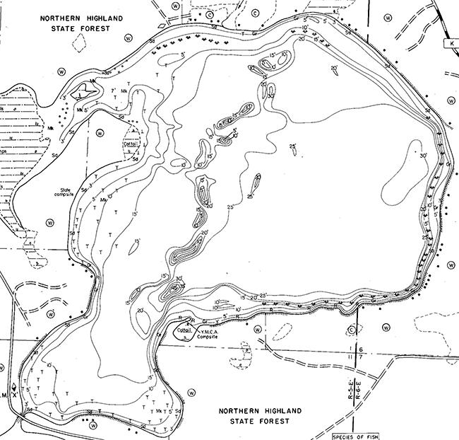 Clear Lake contour map