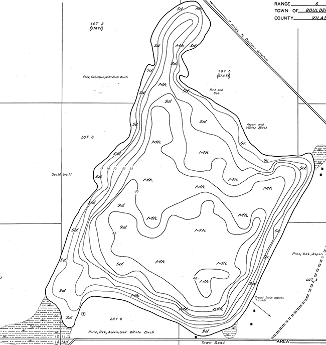 Diamond Lake contour map