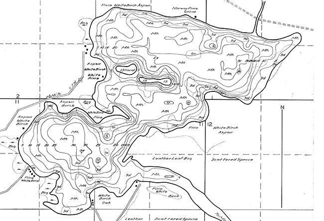 Fishtrap Lake contour map