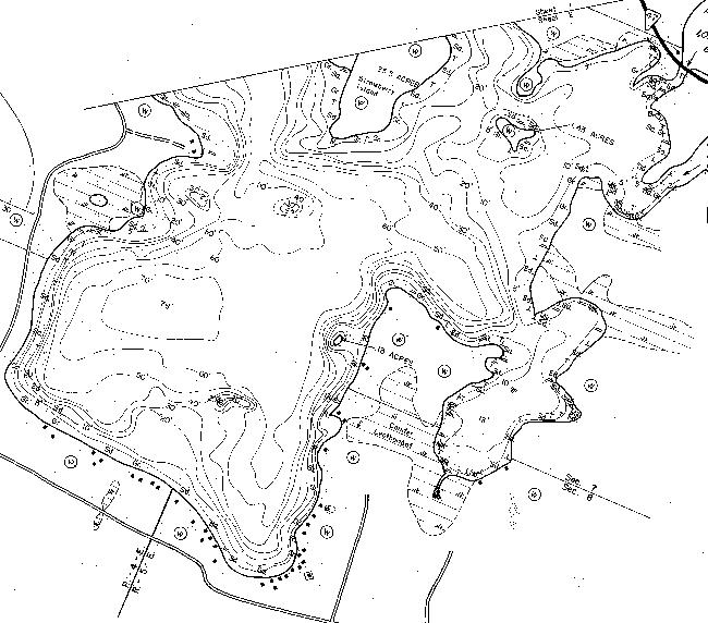 Flambeau Lake contour map
