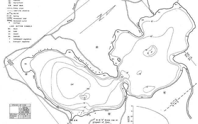 Gilmore Lake contour map