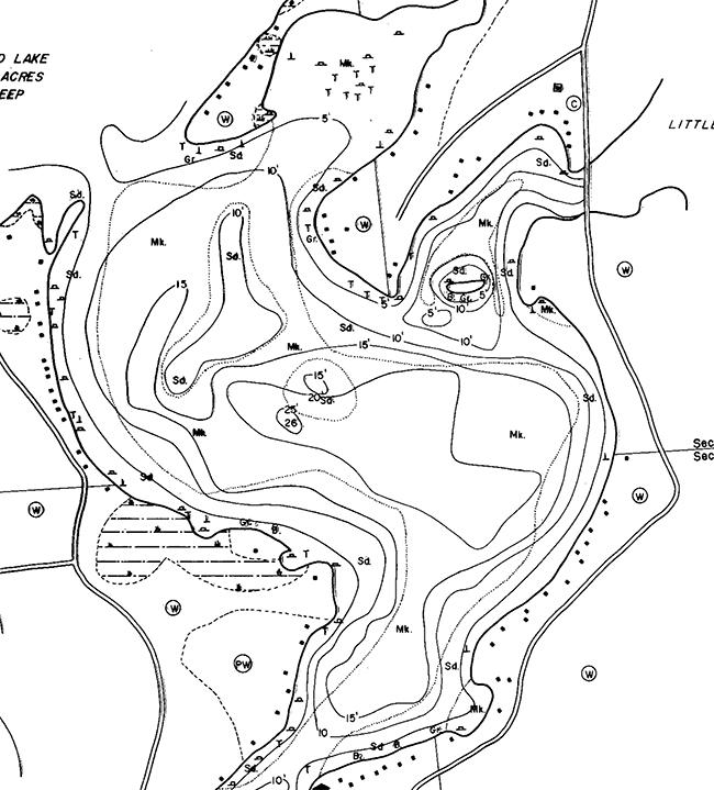 Island Lake (3L) contour map