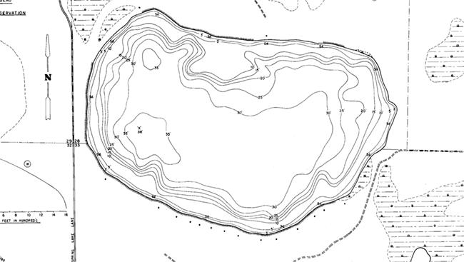 Jerms Lake contour map