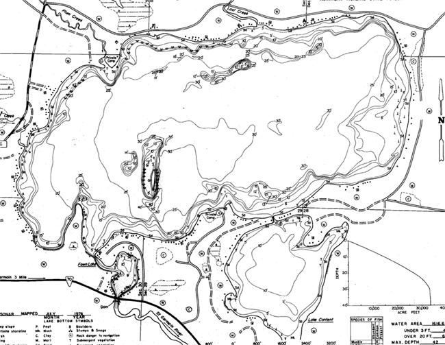 Lake Content contour map