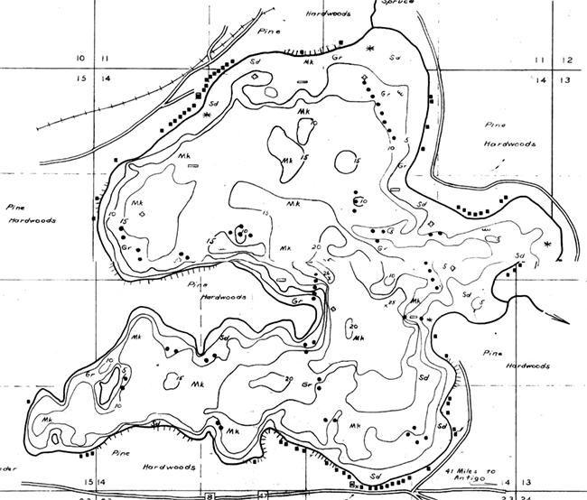 Lake George contour map