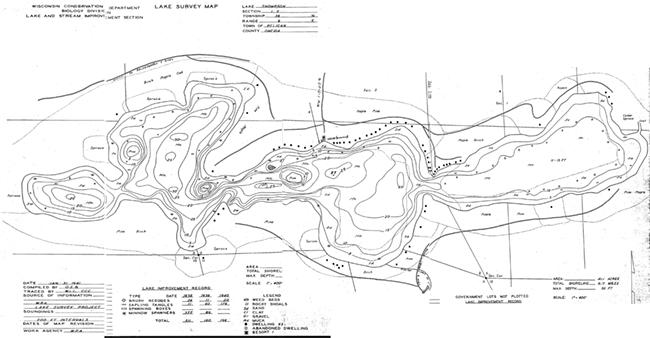 Lake Thompson contour map
