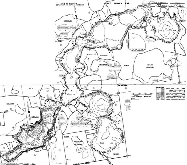 Little St. Germain contour map