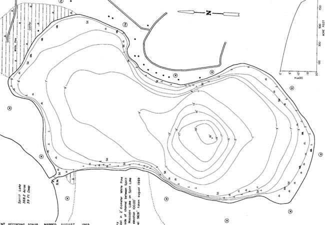 Moccasin Lake (3L) contour map