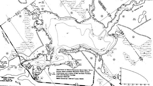 Pickerel Lake (N) contour map