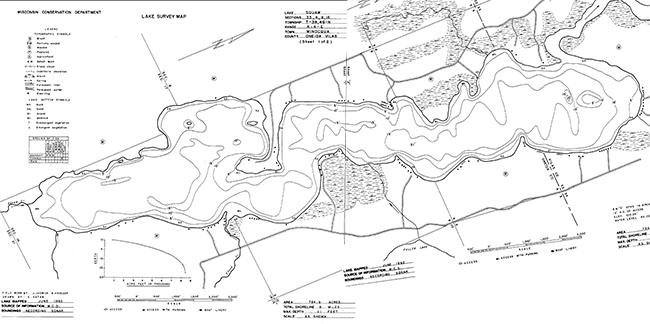 Squaw Lake contour map