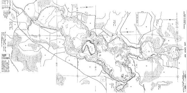 Squirrel Lake contour map