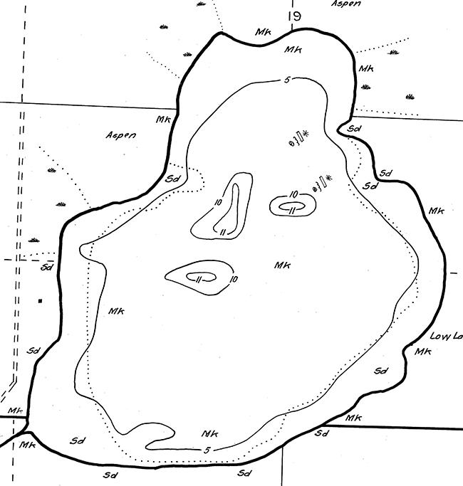 Tambling Lake contour map