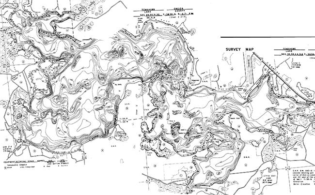Tomahawk Lake contour map